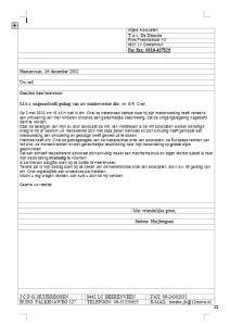 022 Beklag Chel Weijers Advocaten 26 dec 2002 Fax